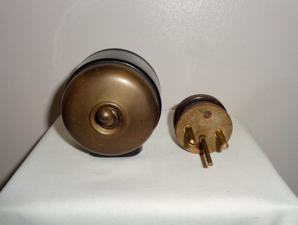 1930s Tucker Light Switch and Power Outlet