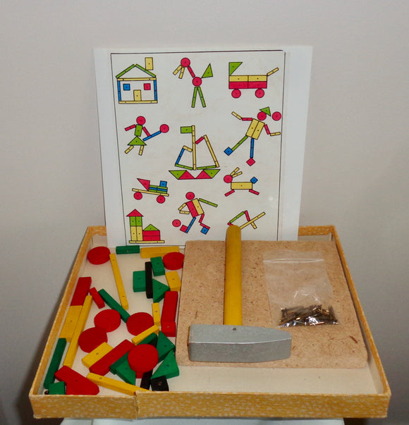 Chad Valley 1960s Tap-Tap Wooden Toy Picture Maker