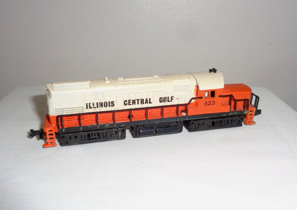 Vintage N-Gauge Atlas Diesel Locomotive 523 Illinois Central Gulf