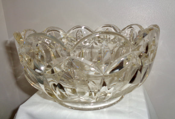Vintage Pressed/Cast Glass Fruit Bowl