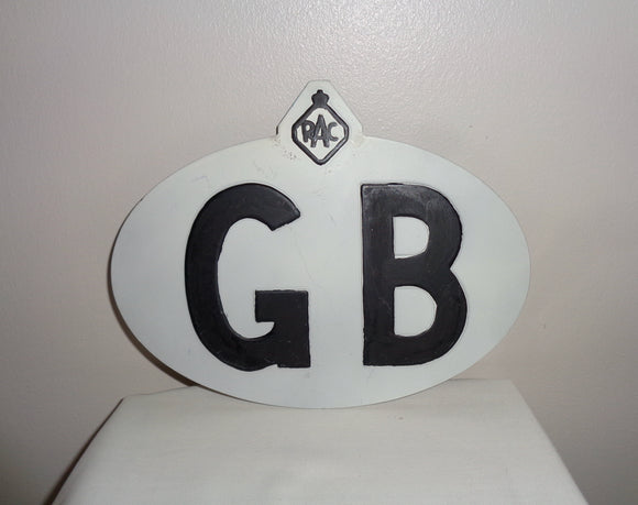 Vintage RAC GB Touring Car Plate