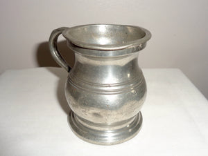 1930s Turley and Williams Pewter 1/2 Gill Drinks Measure