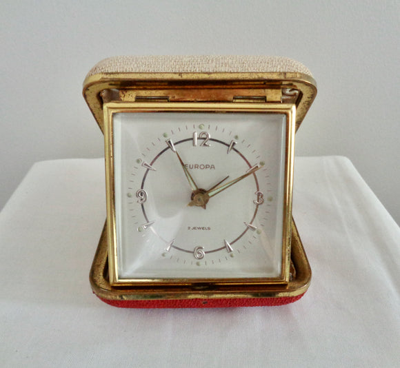 Vintage Europa Folding Travel Alarm Clock
