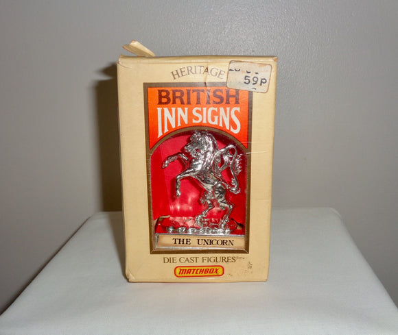 1975 The Unicorn Matchbox Lesney Miniature Heritage British Inn Pub Sign