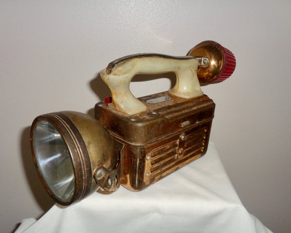Vintage Battery Emergency Torch With Beacon Lamp