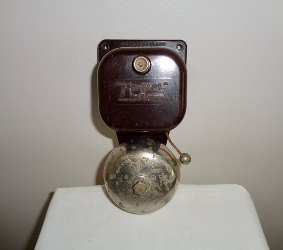 Vintage Working Magnet Electric Butler Alarm Internal Door Bell