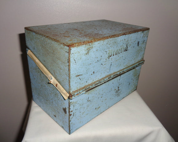 Vintage Medical Note Card Tin Box