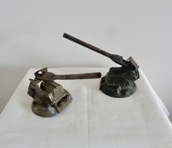 WW2 Britains Toy Diecast Anti Aircraft Guns Models 1715 and 1718