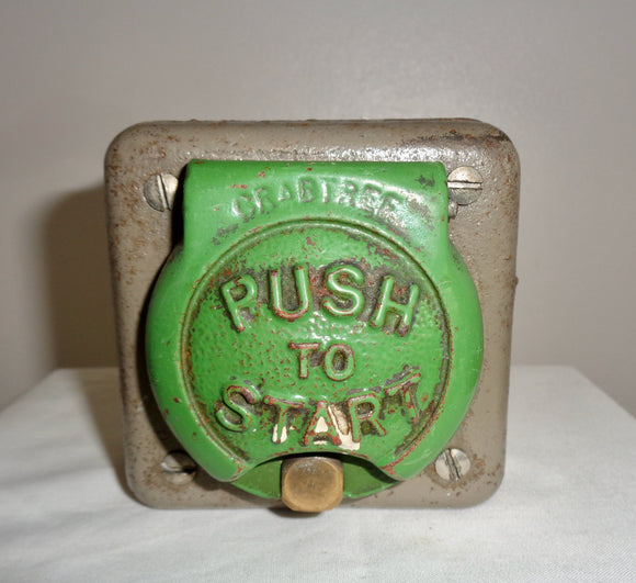 Cast Iron Crabtree Push To Start Vintage Electrical Switch