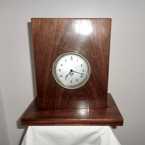 Vintage Wood Mounted Smiths Motor Car Dashboard Clock