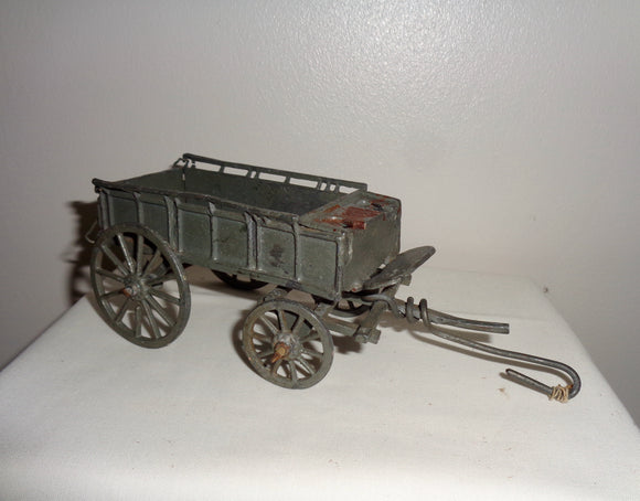 Vintage Diecast Toy Hay Wagon Registered Design Number 475656