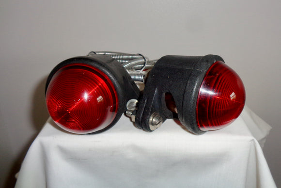 Pair Of Vintage Car Rubbolite Rear Lamps Model 25