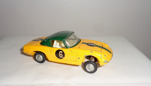 Corgi Toys Model 319 Lotus Elan S2 Hardtop Coupe In Green and Yellow
