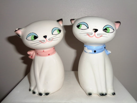 1950s Holt Howard Cat Salt & Pepper Pots With Squeakers