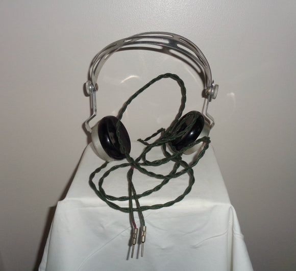 Vintage Boxed Ericsson 4000 Ohm Headphones Made From Aluminium And Bakelite