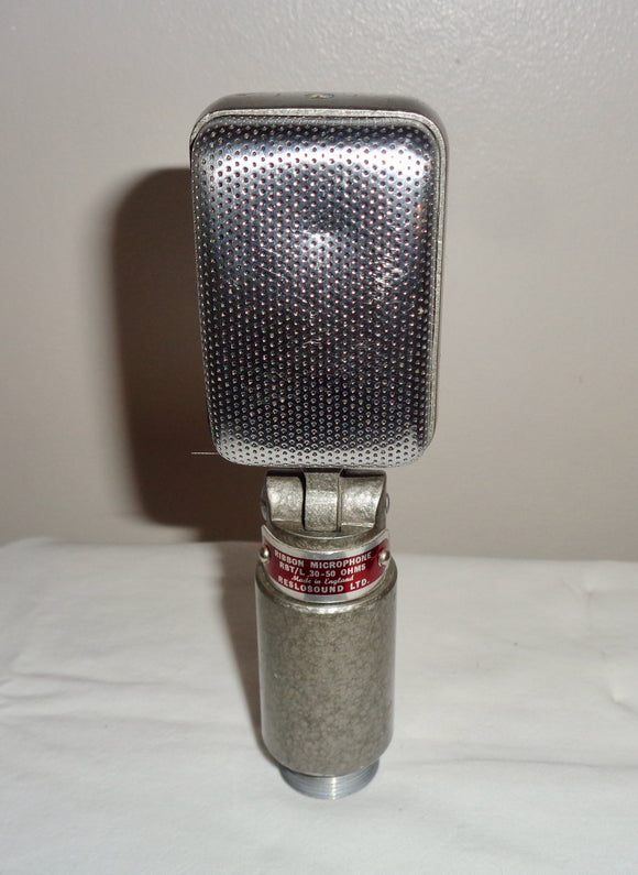 1960s Reslo RBT/L Directional Ribbon Microphone 30-50 Ohm