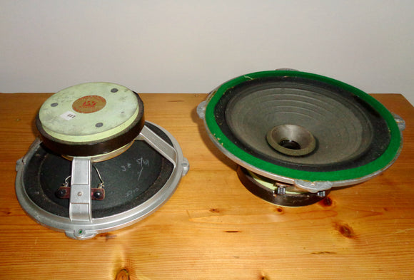 Pair of 1960s Wharfedale Super 10/RS/DD Loudspeaker Driver Units