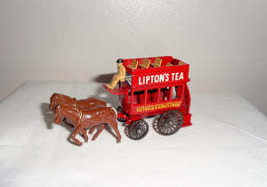 Lesney Y12 Lipton's Tea Horse Drawn London Bus Models of Yesteryear