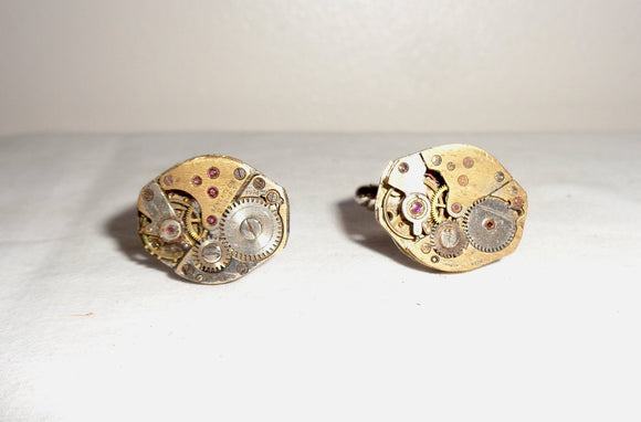 Novelty Watch Movement Cuff link Pair