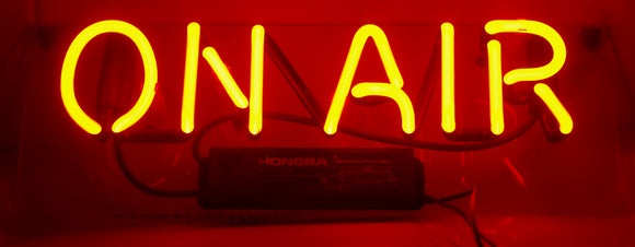 Neon Illuminated Wall Hanging Sign 'On Air'