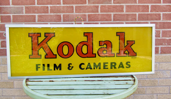 1950s Kodak Advertising Sign Lamp For Ceiling Mounting or Table Top