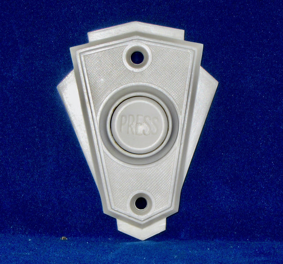 Original Art Deco White Bakelite Electric Door Bell Push/Button