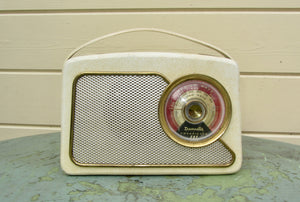 1959 Dansette RT111 Portable Radio With Cream Finish