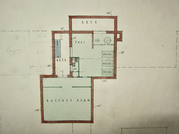 Set of Six Marshall & Tweedy Architects Drawings West End Lane Hampstead