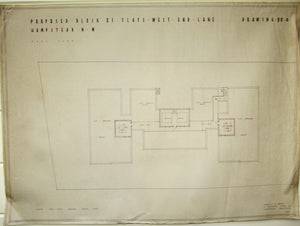 1935 Marshall & Tweedy Architect Drawings West End Lane Hampstead 88.4 Roof Plan