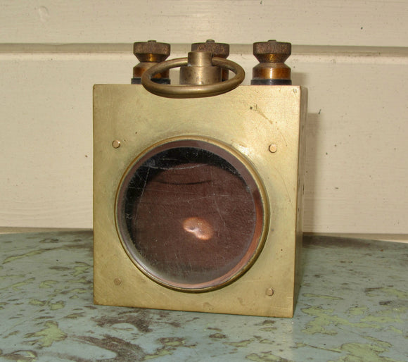 Antique Brass Post Office Pattern Galvanometer Case