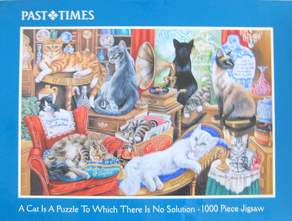 Vintage Past Times Cat Jigsaw: 1000 pieces in original packaging