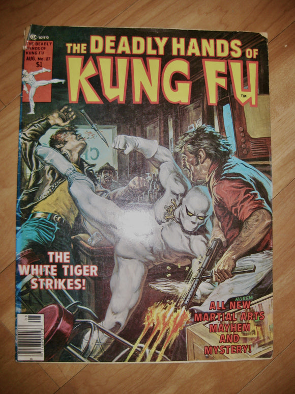 The Deadly Hands Of Kung Fu Vintage Comic Aug 1976 Vol 1 No. 27
