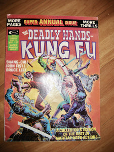 The Deadly Hands Of Kung Fu Vintage Comic Super Annual Edition Summer 1975 Vol 1 No.15