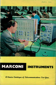 Original Marconi Instruments Telecommunications Test Gear Catalogue