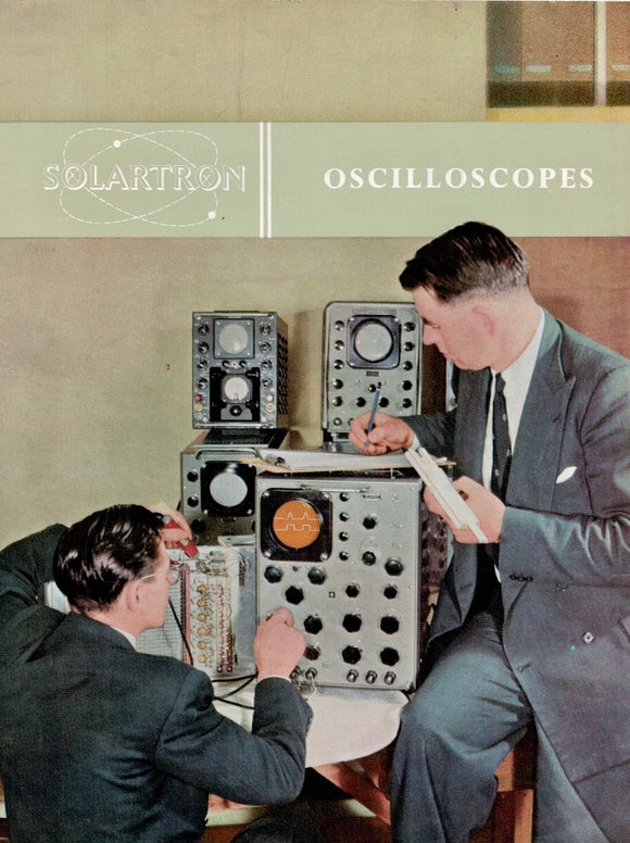 Original Solartron Oscilloscope Catalogue Booklet