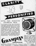1930s Grampian MCR Dynamic Microphone With Integral Spring Suspension