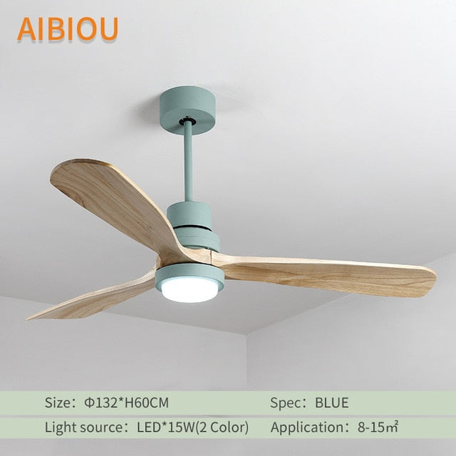 Aibiou Nordic Style Led Ceiling Fan With Lights Remote Control 220v Ce Interiio