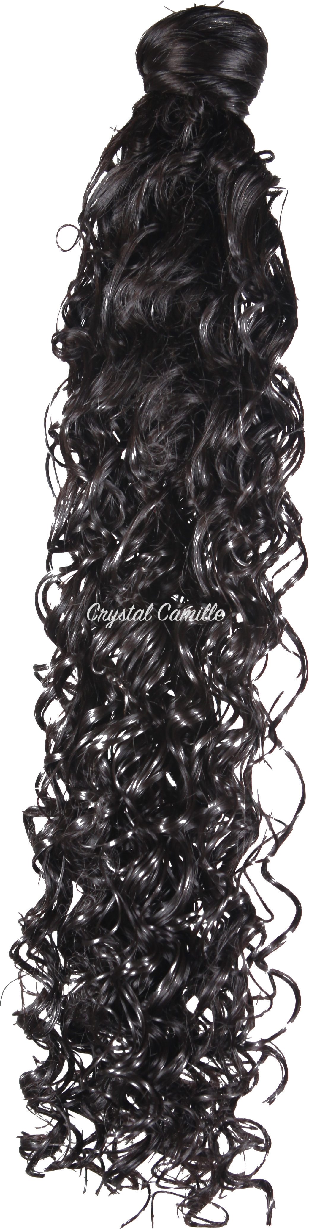 Passion : Luxe Synthetic Deep Curly Ponytail