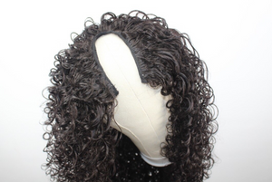 Crystal: Luxe Synthetic Full Curl Half Wig