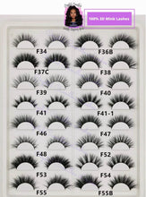 Load image into Gallery viewer, 3D and 5D MINK LASHES WHOLESALE - 10 PAIR