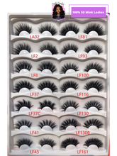 Load image into Gallery viewer, 3D and 5D MINK LASHES WHOLESALE - 100 PAIR