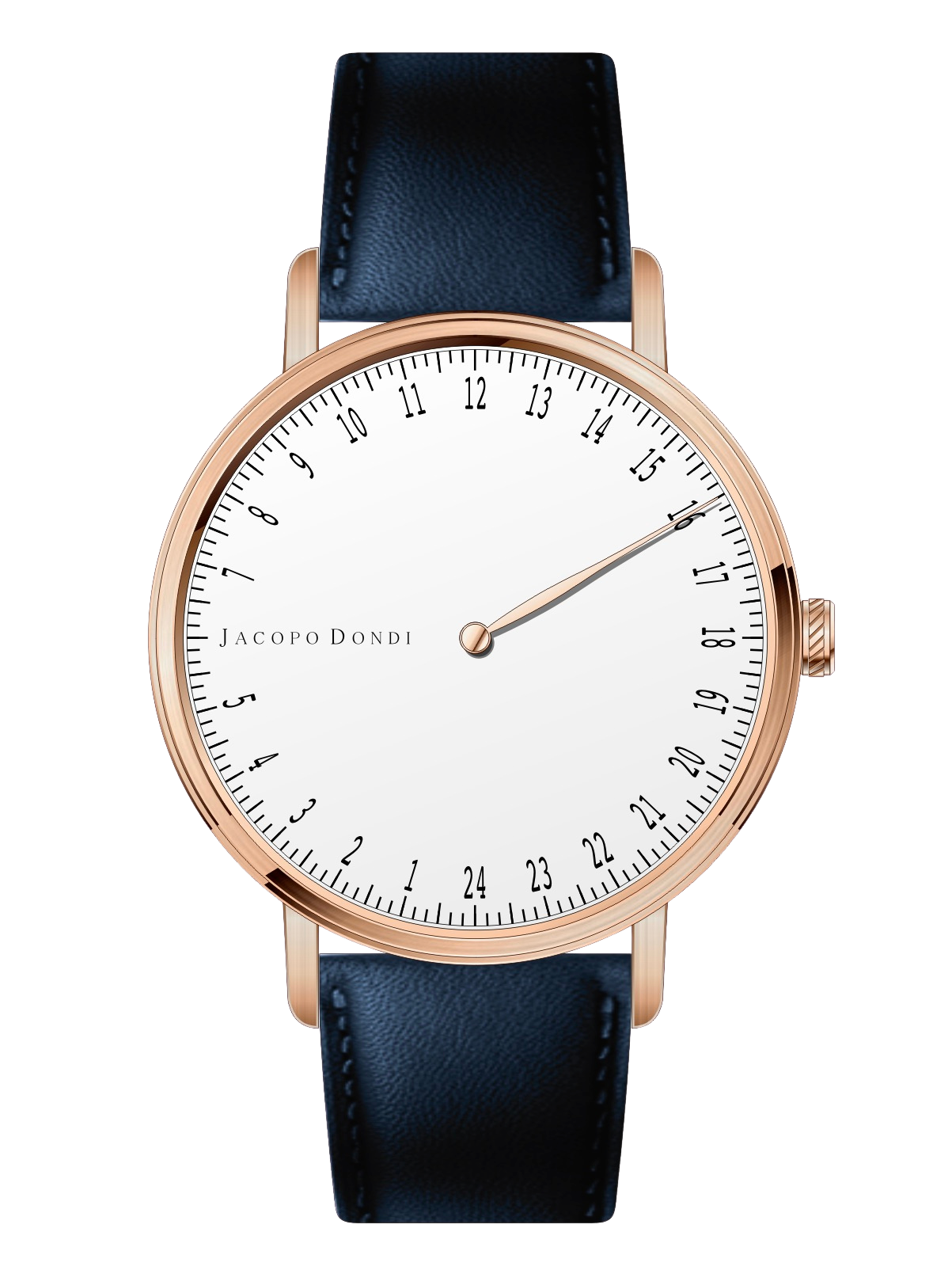 White | Rose Gold | Navy Leather