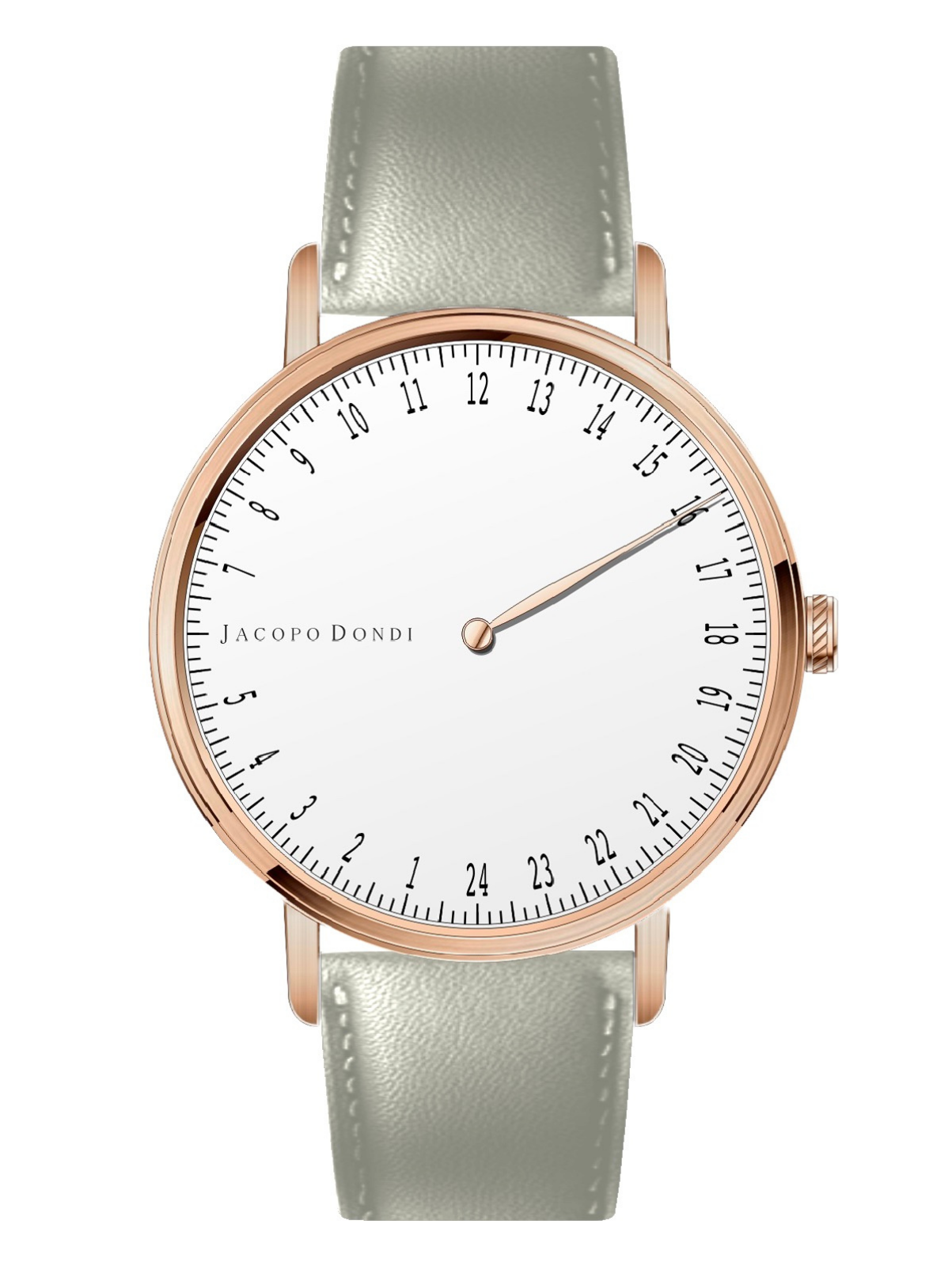 White | Rose Gold | Grey Leather