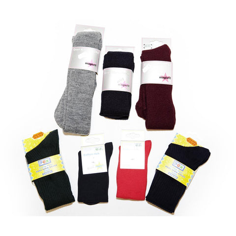 Black Plain Girls Socks TWPK