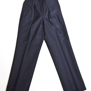 Navy Trousers Partly Elastic Waist