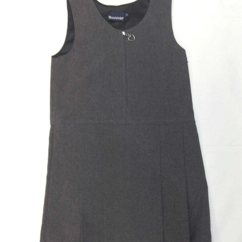 Grey Zip Front Pinafore