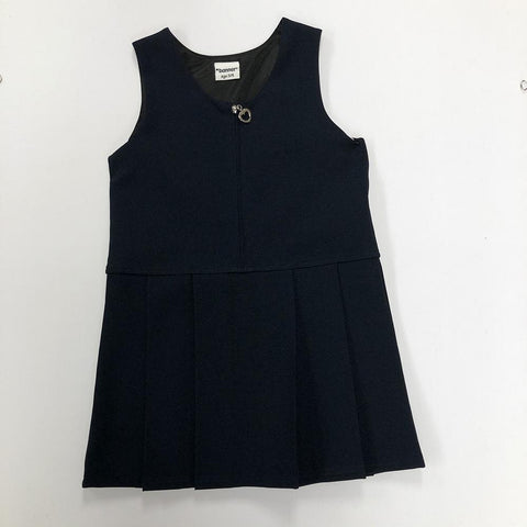 Navy Front Zip Pinafore