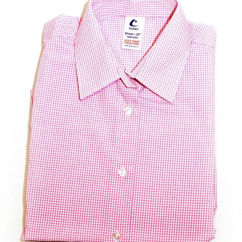 St. Mary's High Pink Check Blouse TWPK 1st - 3rd Year