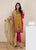 3PC Embroidered Lawn Suit with Chiffon Dupatta-HHk41