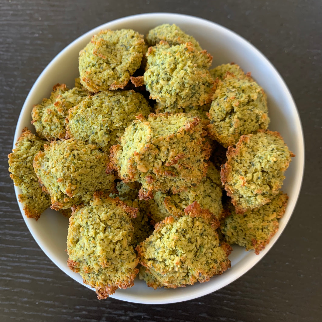 Falafel-ites with Herbed Tahini Dressing